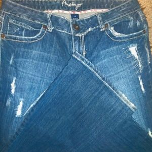 Amethyst Distressed Bootcut Jean's Size 13